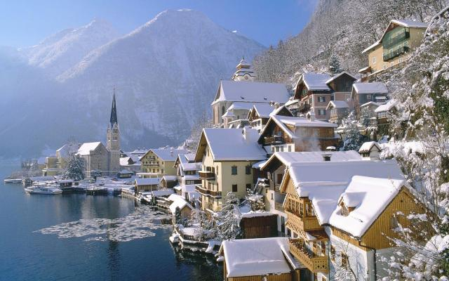 Mesto Vianoc a advent na jazere Wolfgangsee