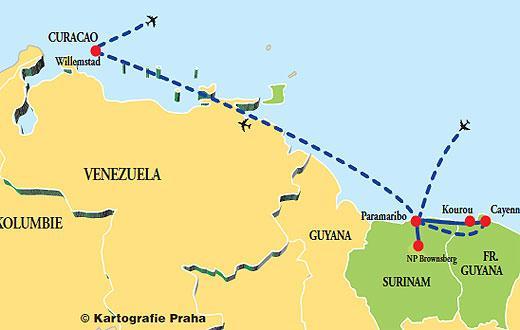 Guadeloupe - Fr. Guyana - Surinam - Guyana - Venezuela