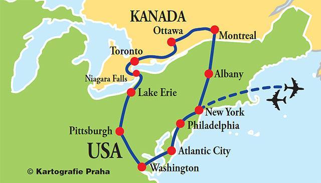 Metropole východu USA a Kanady