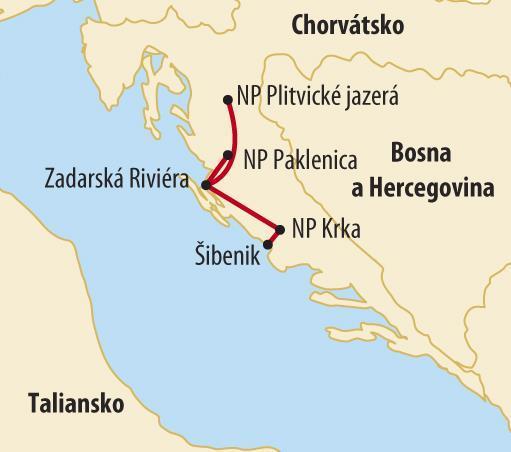 NÁRODNÉ PARKY CHORVÁTSKA