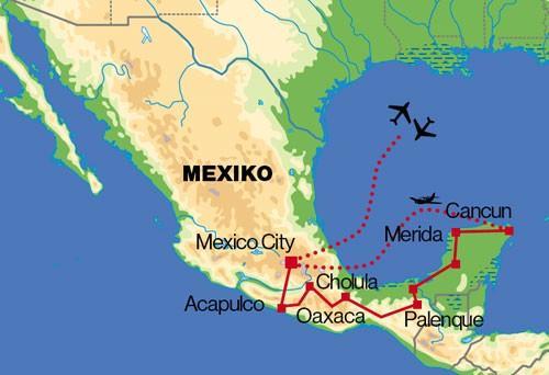 Mexiko - veľký okruh (Komfort)
