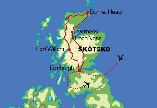 Škótsko - gajdy, whisky, vysočina