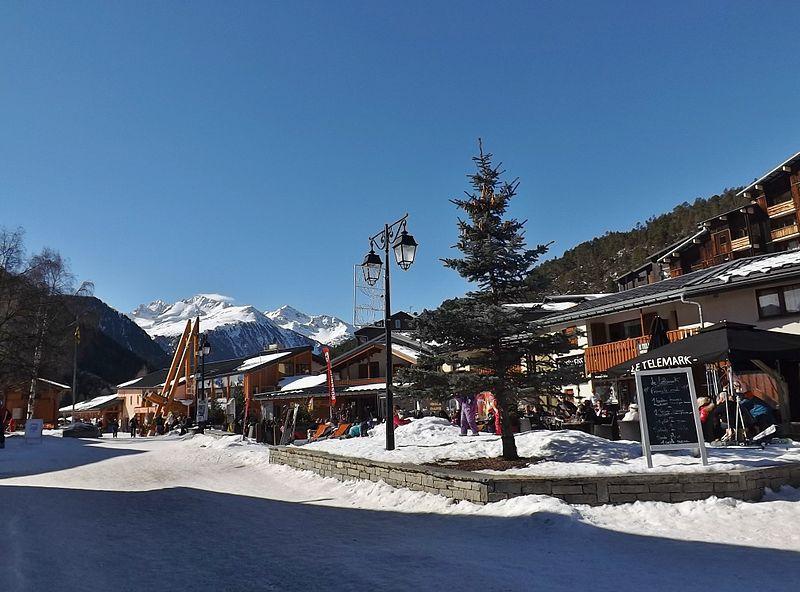 Lyžovačka v Alpách