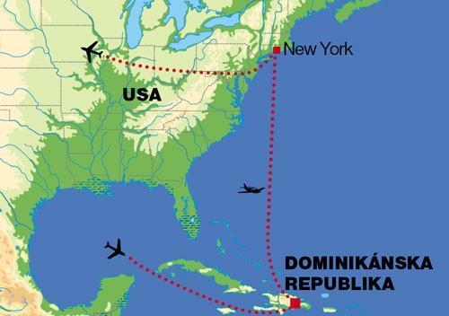 dominikanska republika mapa sveta Hotel Dominikánska republika, New York (Relax) Spojené štáty  dominikanska republika mapa sveta